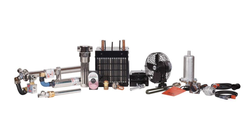 Engine blog heaters, fluid warmers, fuel heaters
